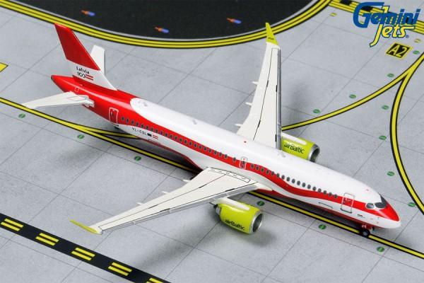 """Airbus A220-300 Air Baltic """"Latvia 100"""" YL-CSL Scale 1/400"""