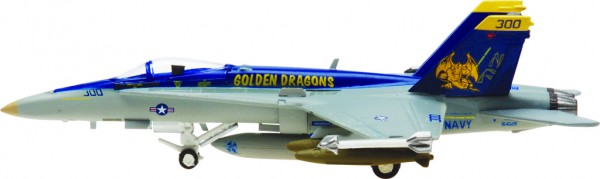 "McDonnell Douglas F/A-18C Hornet US Navy VFA-192 ""Golden Dragons"" Scale 1/200"