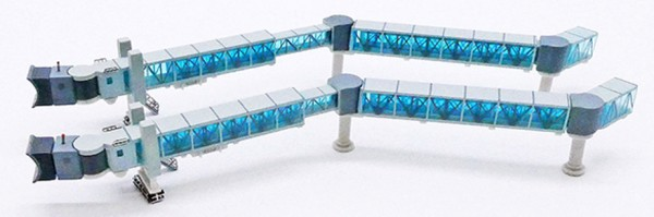 Air Passenger Bridge B737 (blue) Scale 1/400 #