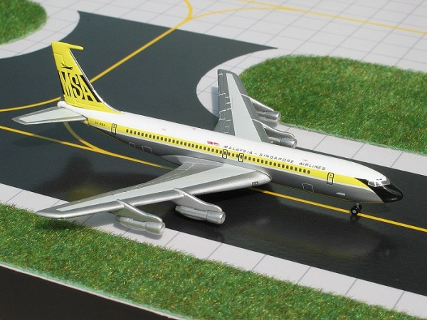 Boeing 707-320B/C Malaysia Singapore Airlines (MSA) Scale 1/400