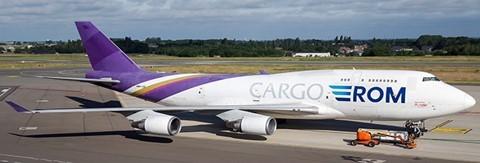 Boeing 747-400BCF Aerotrans Cargo Flaps Down Version ER-BBE Scale 1/400