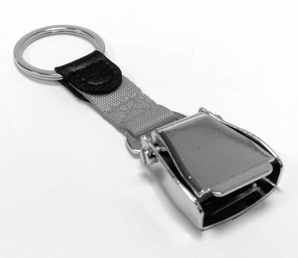 Airline Seatbelt key chain - grey/silver
