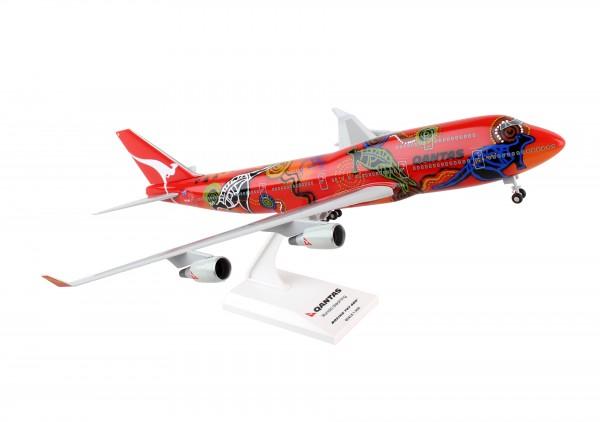 """Boeing 747-400 Qantas """"Wunala Dreaming II"""" VH-OJB Scale 1/200 w/Gear"""