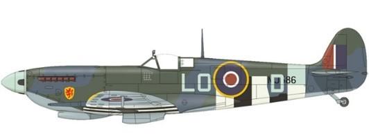 Supermarine Spitfire MK IXc RAF Pierre Closterman, No. 602 Squadron, July, 1944 Scale 1/72