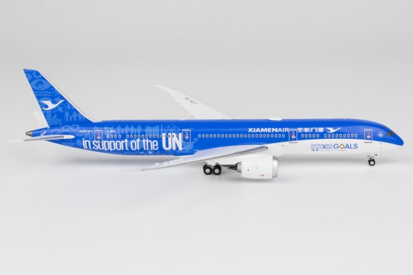 """Boeing 787-9 Xiamen Airlines """"support UN livery"""" B-1356 Scale 1/400"""