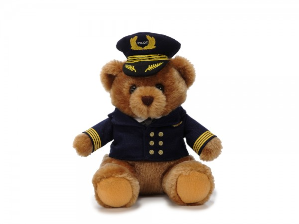 Plüschbär mit Pilotenuniform / Plush Bear with Pilot uniform 22cm