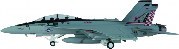 """McDonnell Douglas F/A-18F Hornet US Navy VFA-211 """"Fighting Checkmates"""", AB 101 Scale 1/200"""