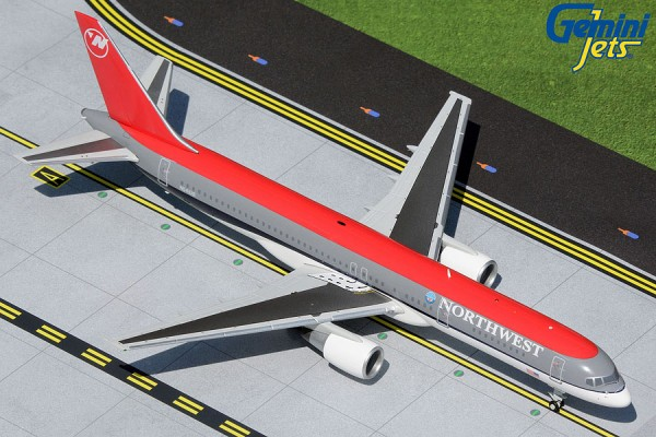 """Boeing 757-200 Northwest Airlines """"bowling shoe livery"""" N541US Scale 1/200"""