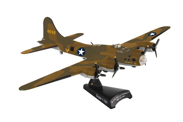 POSTAGE STAMP B-17F Flying Fortress Memphis Belle Scale 1/155