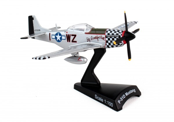 POSTAGE STAMP North American P-51 Mustang Big Beautiful Doll Scale 1/100