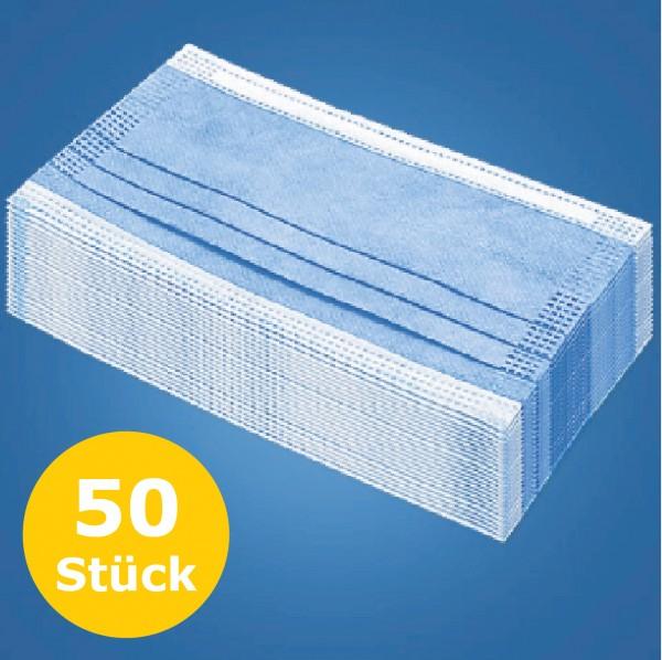 50 Stück Mund- und Nasenschutz / Einwegmundschutz
