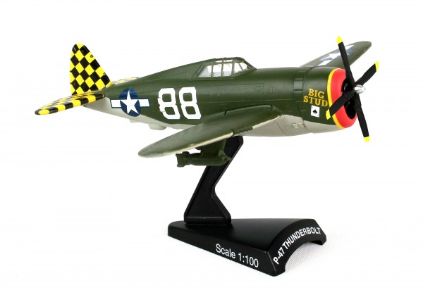 POSTAGE STAMP Republic P-47 Thunderbolt Big Stud Scale 1/100
