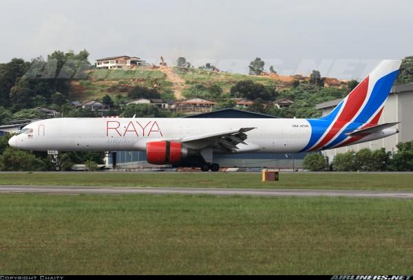 Boeing 757-200PCF Raya Airways 9M-RYA Scale 1/400
