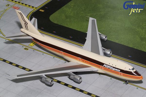 Boeing 747-100 PEOPLExpress N603PE Scale 1/200