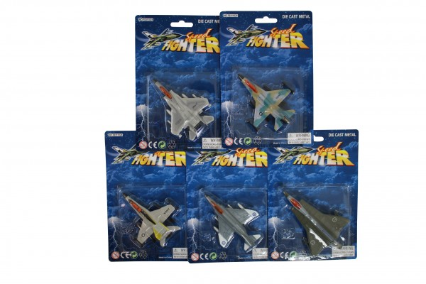 JET FIGHTER die-cast Toyplane mixed Blister card