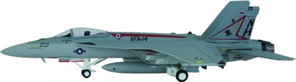 """McDonnell Douglas F/A-18E Hornet US Navy VFA-14 """"Tophatters"""", CVW 11, NAS Lemoore,NH 201 Scale 1/200"""