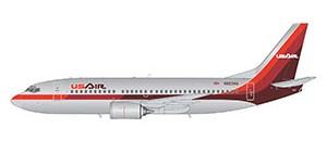 Boeing 737-300 USAir (polished 1980s livery) Scale 1/200