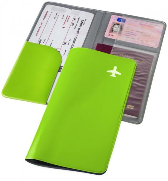Reisebrieftasche Voyage grün / Travel Wallet Voyage green