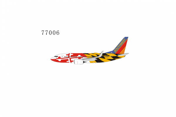 """Boeing 737-700/w Southwest Airlines """"Maryland One Livery with Canyon Blue tail"""" N214WN Scale 1/400 #"""