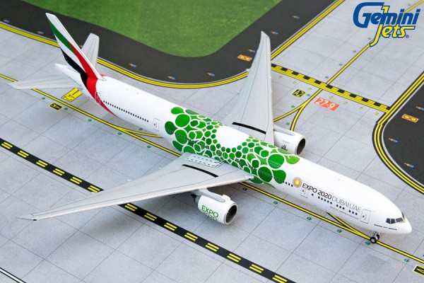 """Boeing 777-300ER Emirates """"Green Expo 2020"""" A6-EPU Scale 1/400"""