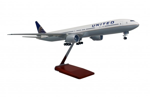 Boeing 777-300ER United Airlines Scale 1/100 w/Gear