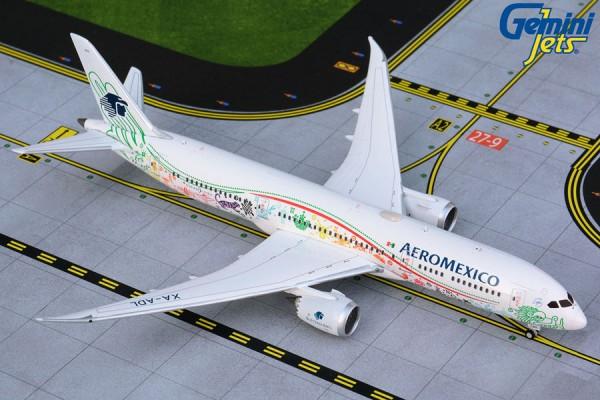 "Boeing 787-9 Dreamliner Aeromexico ""Quetzalcoatl"" Scale 1/400"