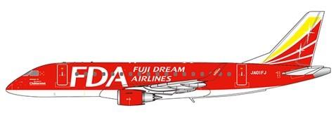 "Embraer 170-100STD Fuji Dream Airlines ""Red Color"" Reg: JA01FJ Scale 1/400"