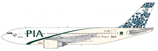 """Airbus A310-300 Pakistan International Airlines """"Hyderabad"""" AP-BDZ Scale 1/200 #"""