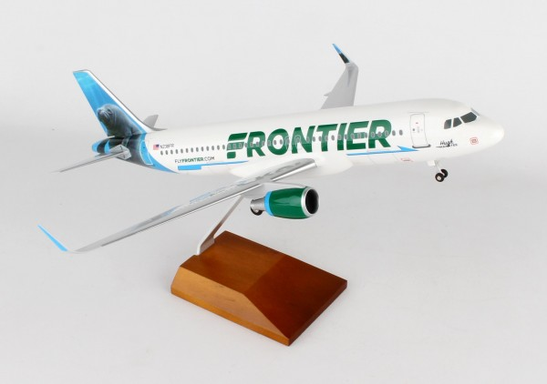 "Airbus A320 Frontier Airlines ""Hugh the Manatee"" N238FR Scale 1/100 w/Gear"