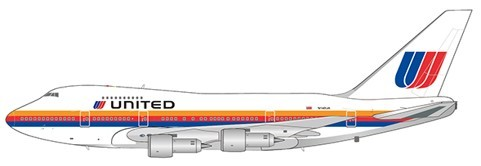 """Boeing 747SP United Airlines """"Old Livery"""" N140UA Scale 1/400 #"""
