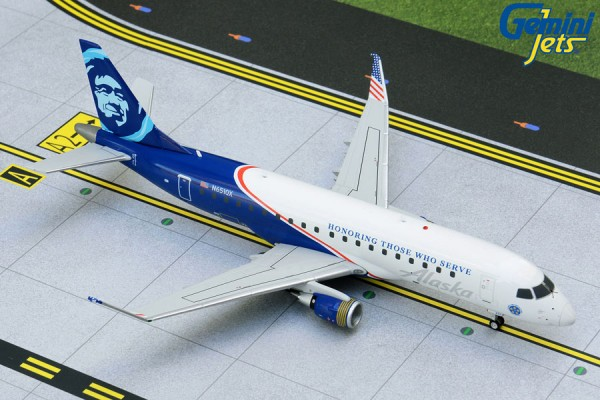 "Embraer 175 Alaska/Horizon Air ""Honoring Those Who Serve"" Scale 1/200"