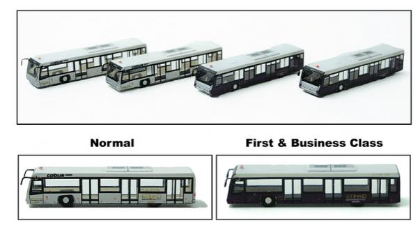 Airport Bus Etihad Set of 4 Scale 1/400 #