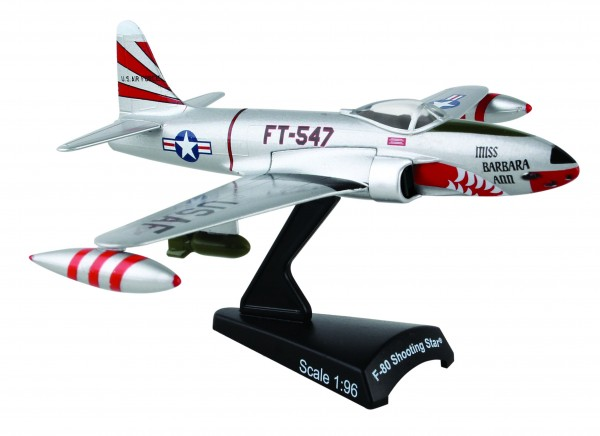 "POSTAGE STAMP Lockheed F-80 Shooting Star ""Evil Eye Fleagle/Miss Barbara Ann"" Scale 1/96"