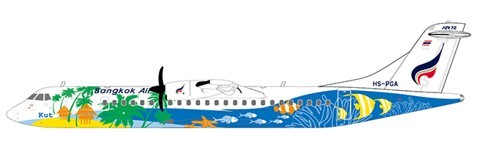 Avions de Transport Régional ATR42-500 Bangkok Airways HS-PGA Scale 1/200