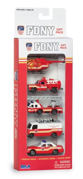 FDNY 5 PIECE VEHICLE GIFT SET