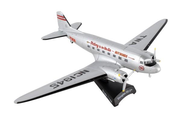 POSTAGE STAMP Douglas DC-3 TWA Scale 1/144