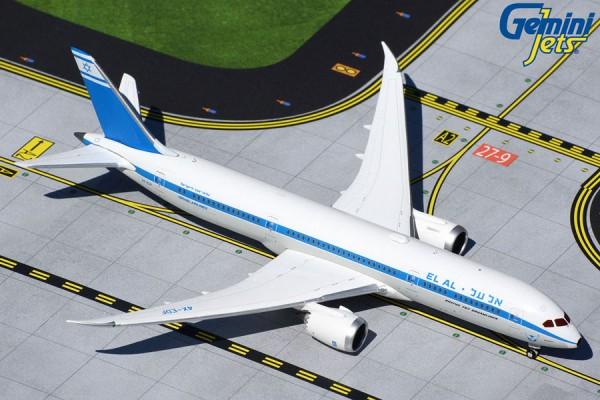 "Boeing 787-9 El Al Israel ""1960s retro livery"" 4X-EDF Scale 1/400"