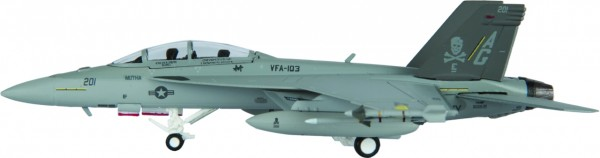 """McDonnell Douglas F/A-18F Hornet US Navy VFA-103 """"Jolly Rogers"""", AG 201 Scale 1/200"""