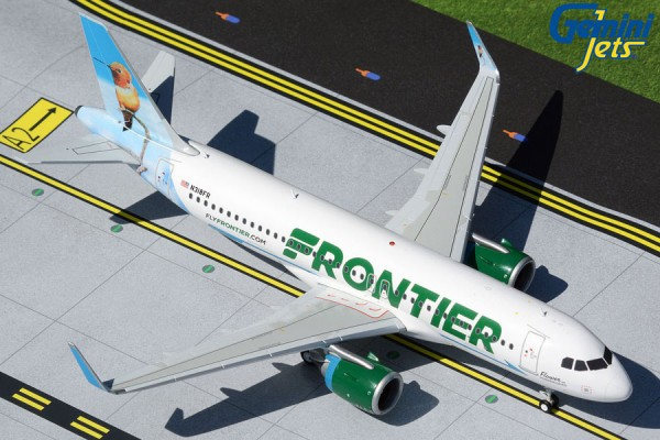 "Airbus A320neo Frontier Airlines ""Flower the Hummingbird"" N318FR Scale 1/200"
