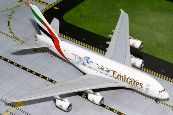 """Airbus A380-800 Emirates """"England Rugby World Cup"""" A6-EEN Scale 1/200"""