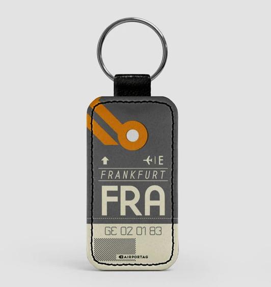 Leather Keychain - FRA