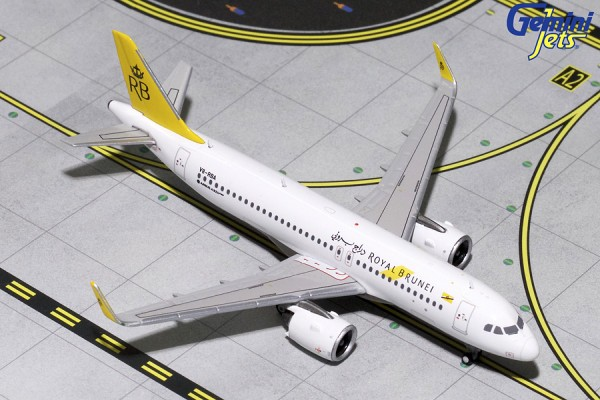 Airbus A320neo Royal Brunei V8-RBA Scale 1/400