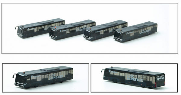 Airport Bus JX Link Monster Set of 4 Scale 1/400