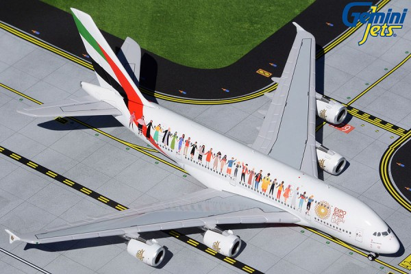 """Airbus A380-800 Emirates """"Year of Tolerance"""" livery A6-EVB Scale 1/400"""