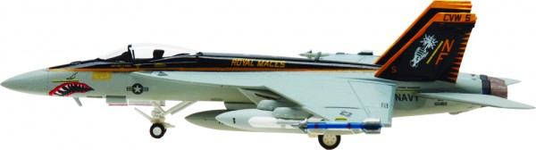 """McDonnell Douglas F/A-18E Hornet US Navy VFA-27 """"Royal Maces"""" CVW-5 Scale 1/200"""
