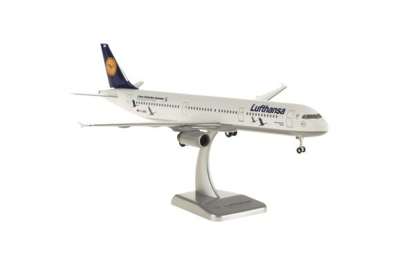 """Airbus A321 Lufthansa """"25 Jahre Kranichschutz"""" D-AIRR Scale 1:200 w/G"""