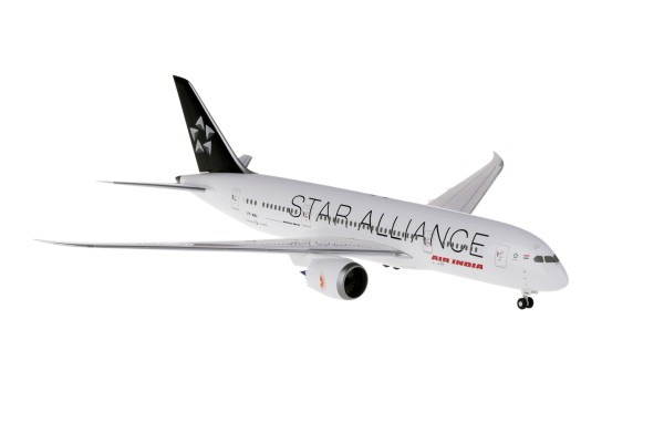 Boeing 787-8 Air India Star Alliance Ground Configuration Scale 1/200