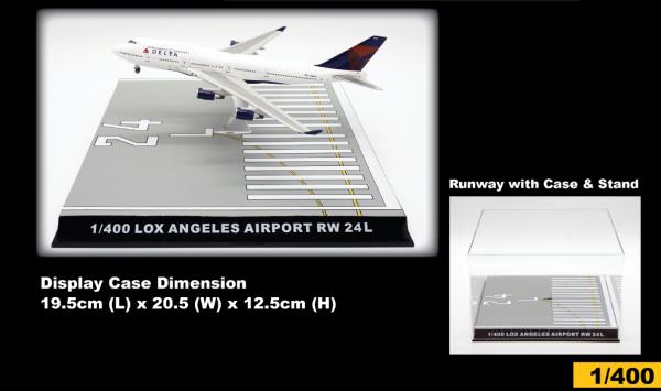 Los Angeles International Airport Runway 24L Display Case Scale 1/400