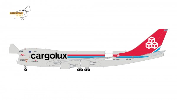 Boeing 747-400ERF Cargolux Airlines Intl. (Interactive Series) LX-LXL Scale 1/200