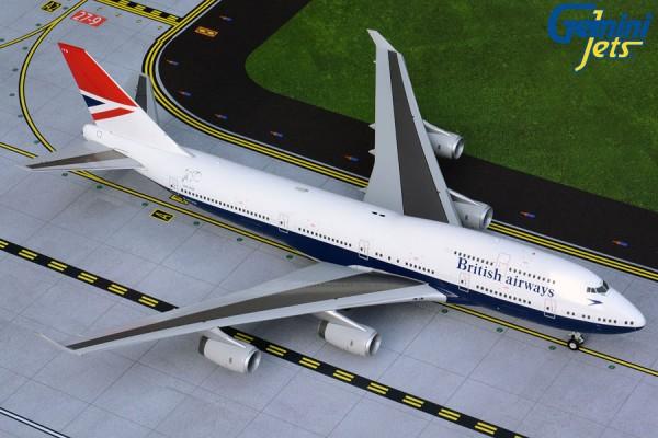 """Boeing 747-400 British Airways """"Negus Retro Livery"""" Scale 1/200"""